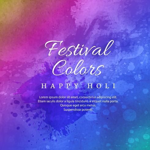 Happy Holi celebration Festival indiano dei colori vettore