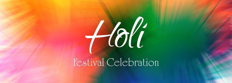 Festival de la India feliz Holi celebración banner vector