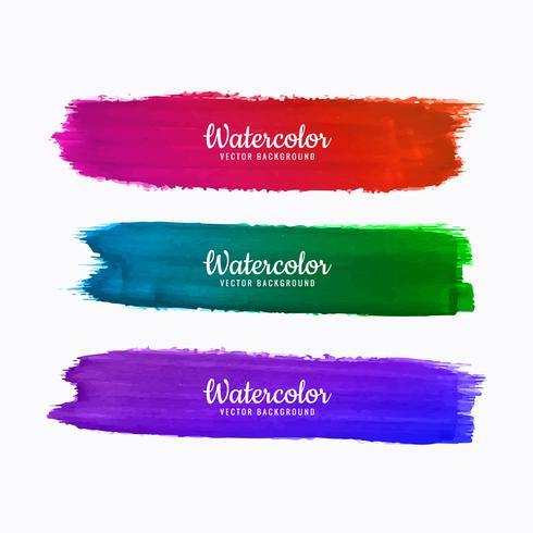 Fondo acuarela hermosa trazos de colores vector