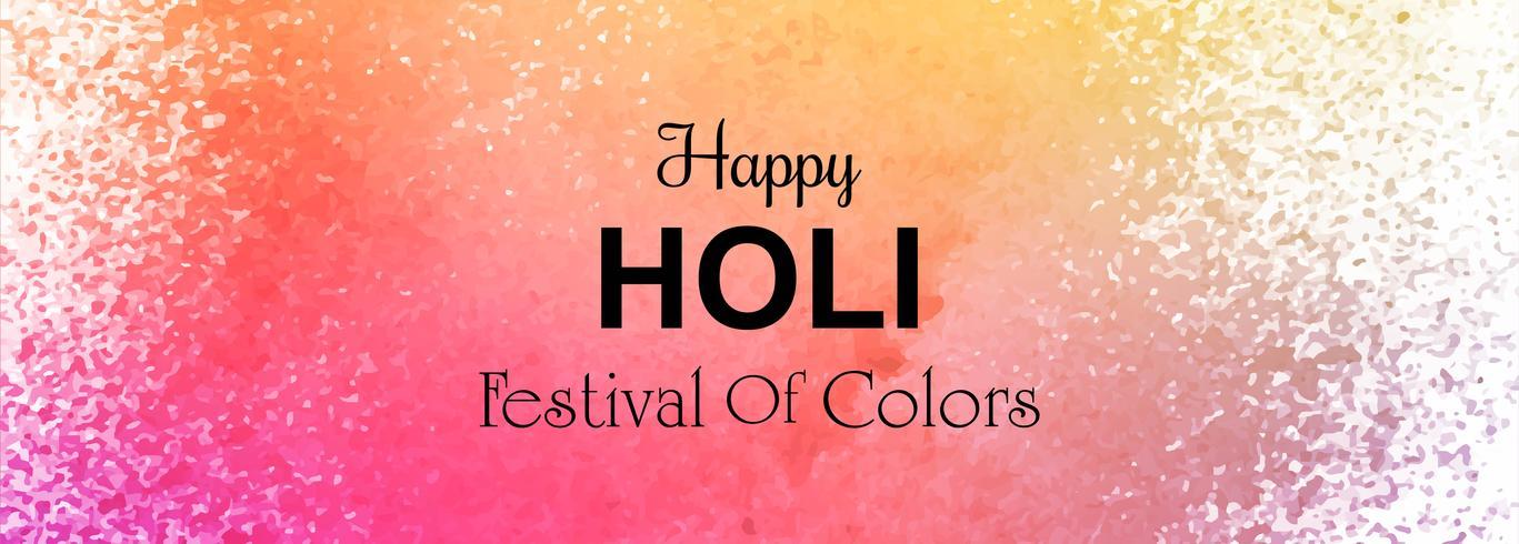 Ilustración de la plantilla de encabezado Happy Holi colorido