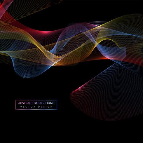 Fondo de onda brillante elegante colorido que fluye vector