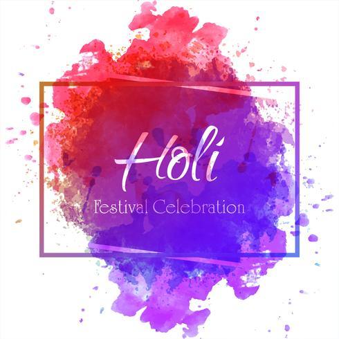 Glückliche Holi-Vektorillustration mit buntem Gulal