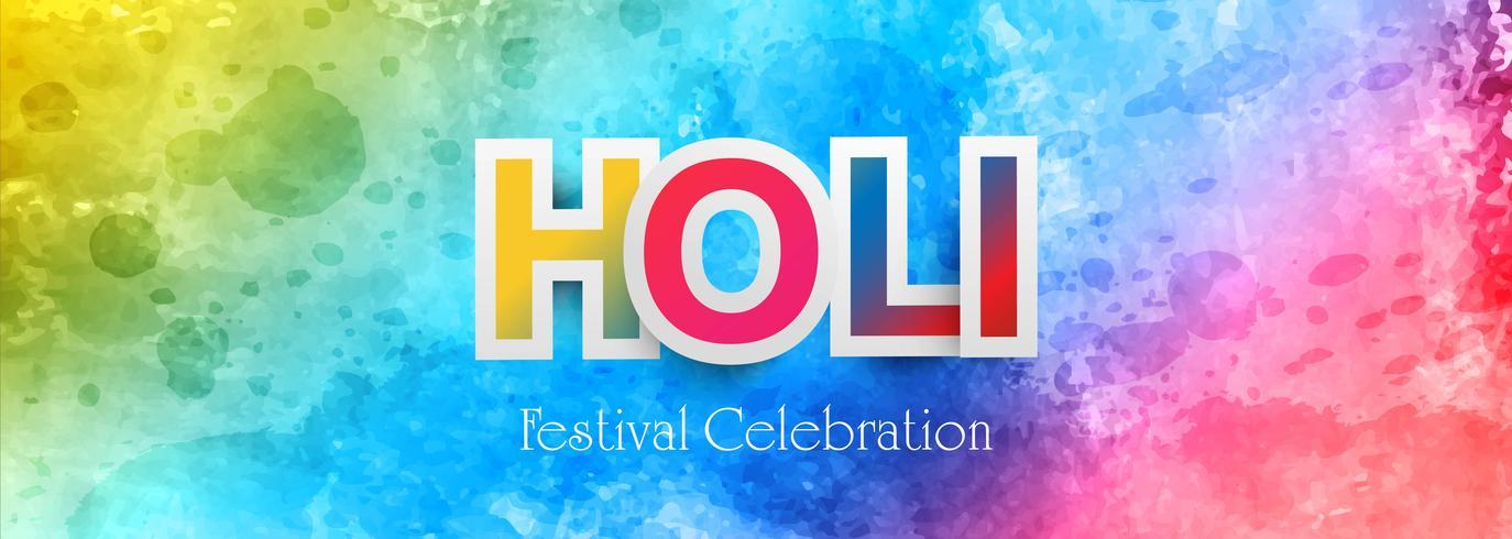 Holi festival kleurrijke banner vector