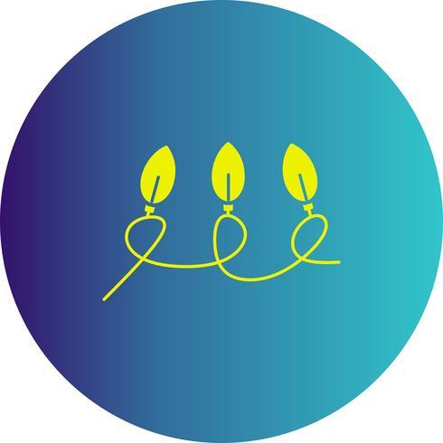 icône de lumières vectorielles vecteur