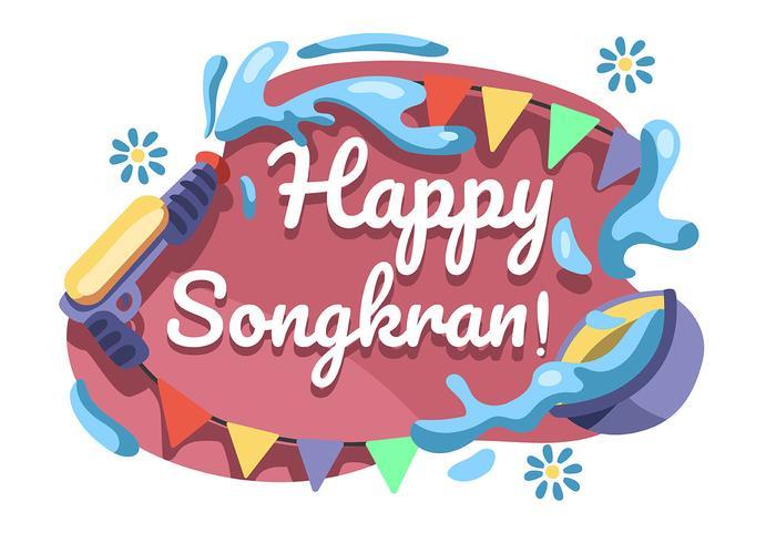 Festival Songkran vettore