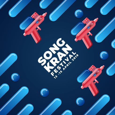 Thailand Songkran Festival Design Background