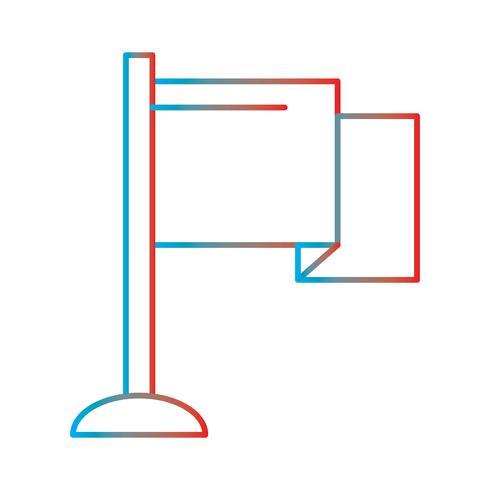 Ilustración de línea gradiente icono perfecto o Pigtogram vector