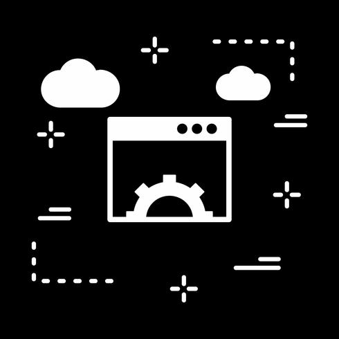 vector browser instelling pictogram