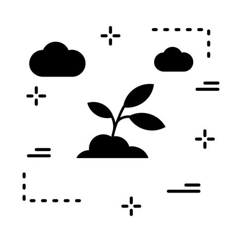 icona della pianta del suolo vettoriale