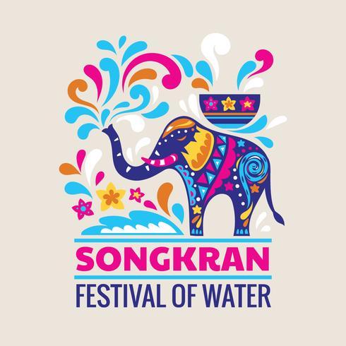 Festival feliz dia da Tailândia Songkran
