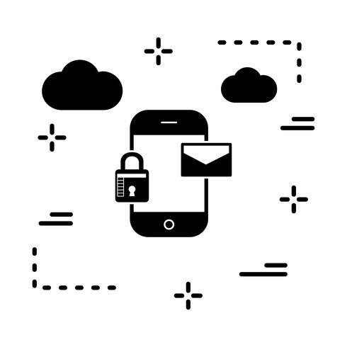 vector mobiel berichtpictogram