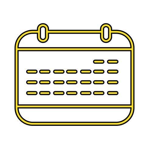 Kalender-perfekter Ikonen-Vektor oder Pigtogram-Illustration in gefülltem Stil