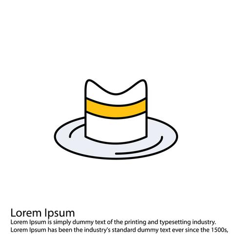Icono de sombrero de vector