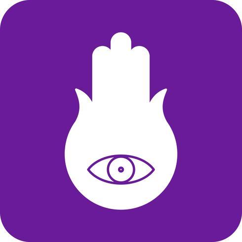 icône d'oeil vecteur main