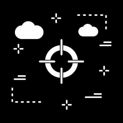 icono de vector objetivo