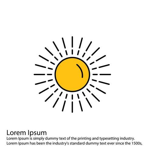 Icono sol vector