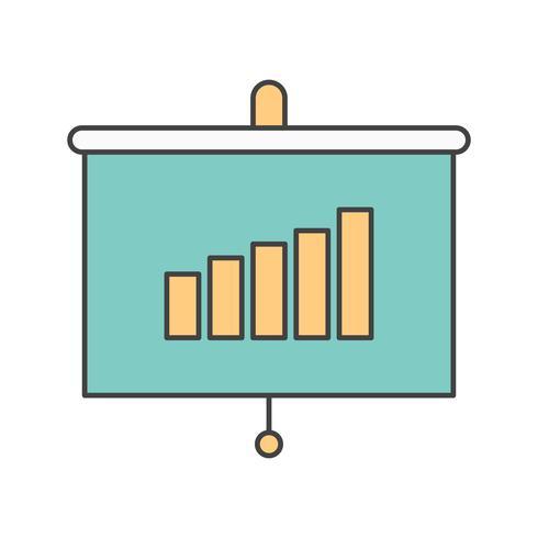 icône de présentation de vecteur