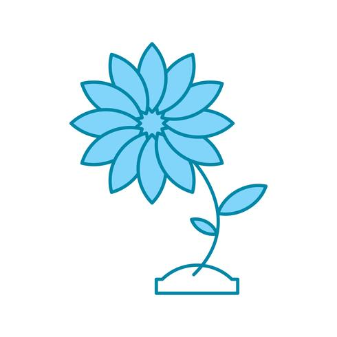 vector flower icon
