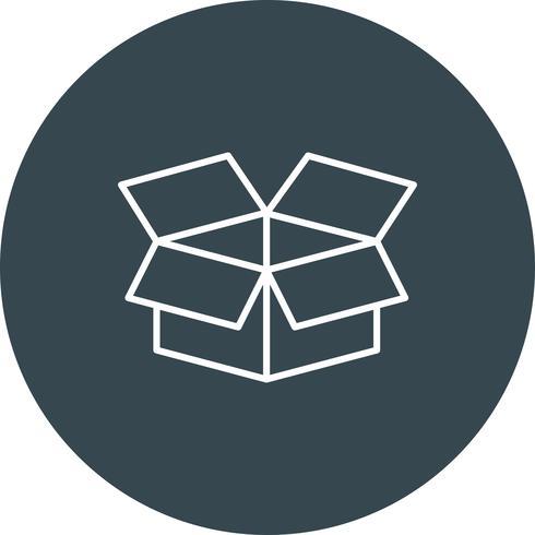 Icono de la caja del vector