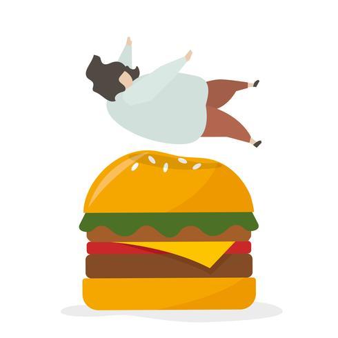 Viciado em junk food e lanches