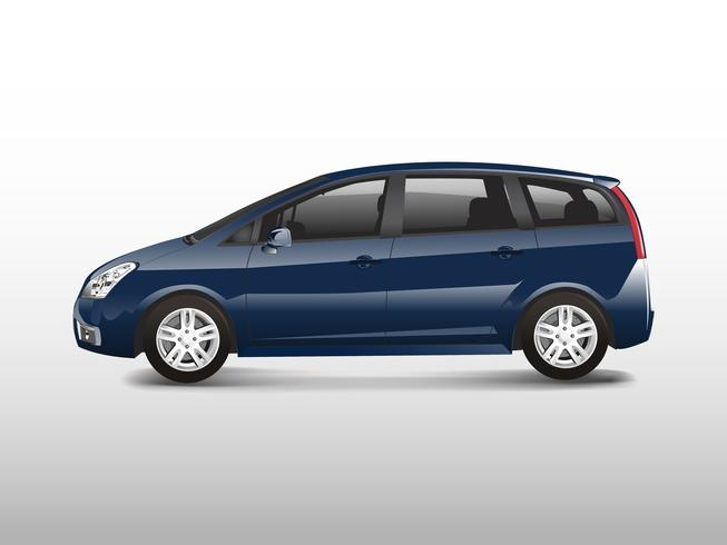 Blå MPV minivanbil vektor