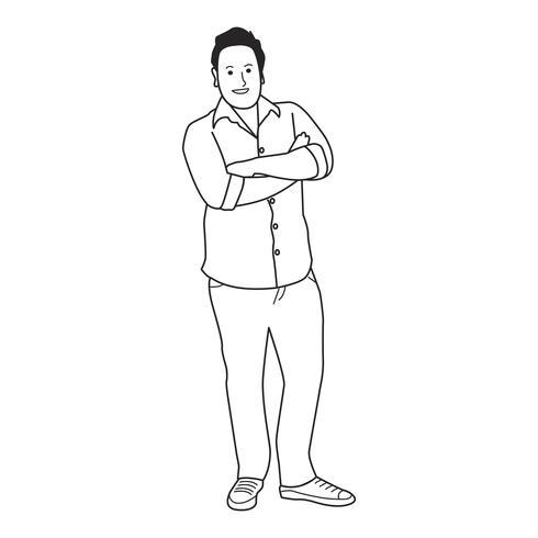 Homem maduro ilustrado com casual wear