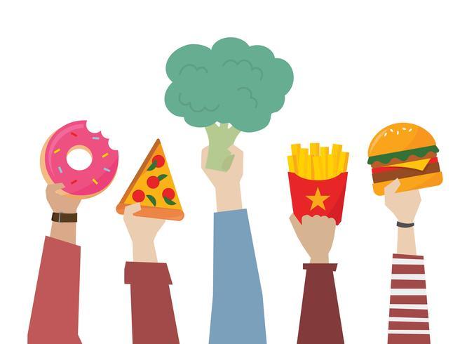 Opção de comida saudável