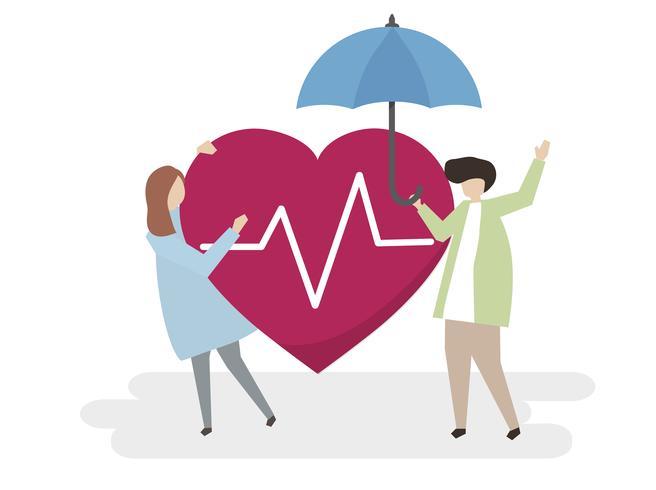 Abbildung der Krankenversicherung und des Schutzes