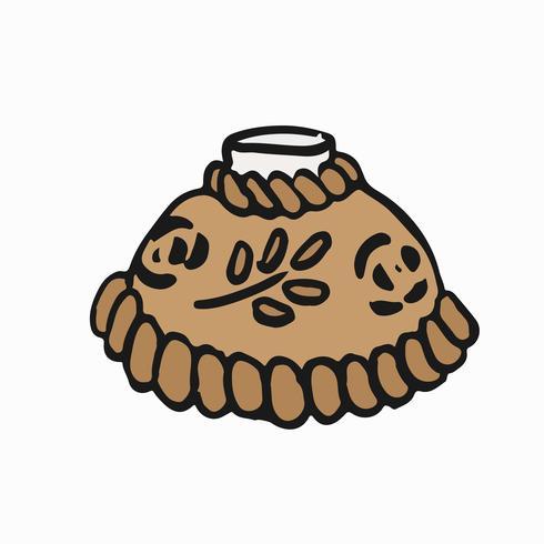 Pão tradicional russo com sal gráfico ilustração