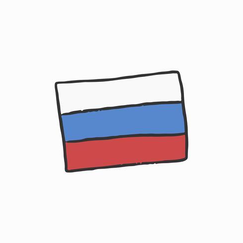 A, bandeira, de, rússia, ilustração
