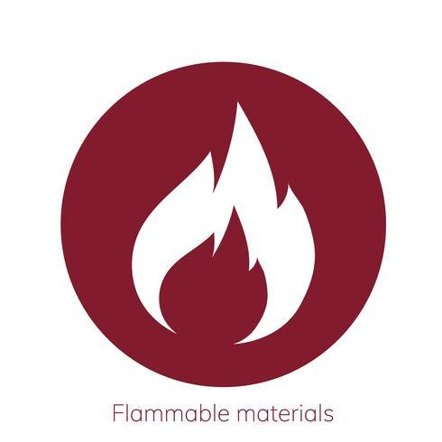 Illustratie van ontvlambaar materialen voorzichtigheidsteken