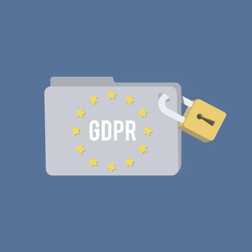 Illustrazione generale della cartella di regolamento di protezione dei dati