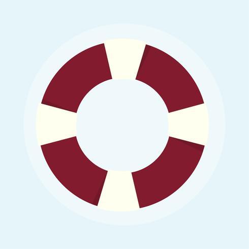 Illustratie van reddingsboei verdrinkingspreventie