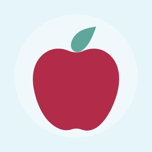 Ilustração, de, maçã vermelha fresca