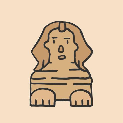 De grote sfinx van Giza