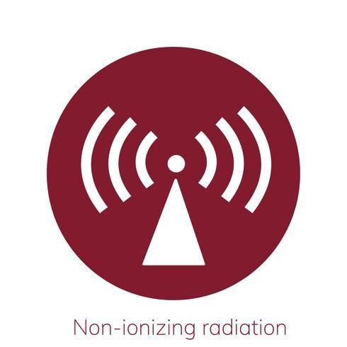 Illustratie van niet-ioniserende stralingswaarschuwingsbord