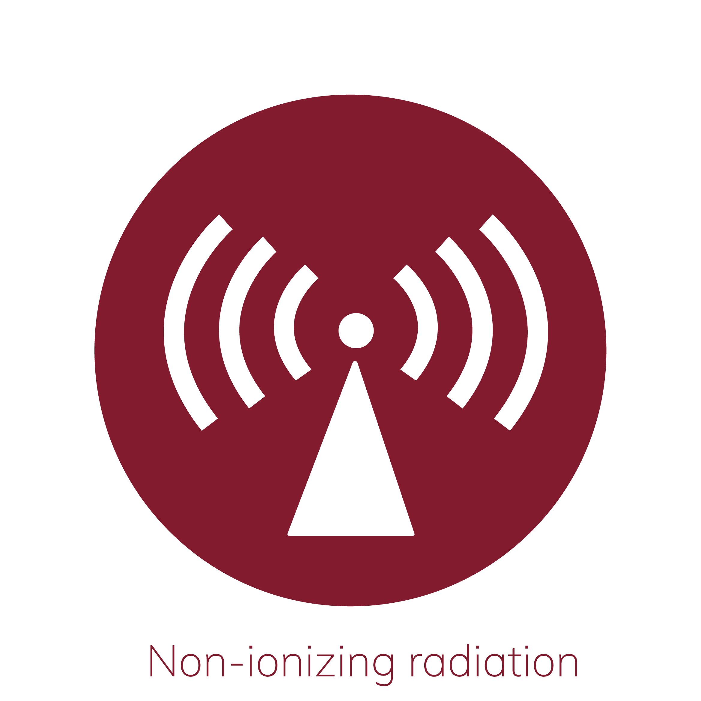Illustration Of Non Ionizing Radiation Warning Sign