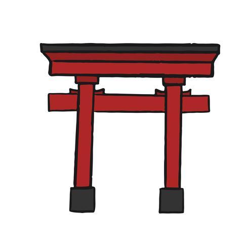 Den stora Torii porten illustrationen