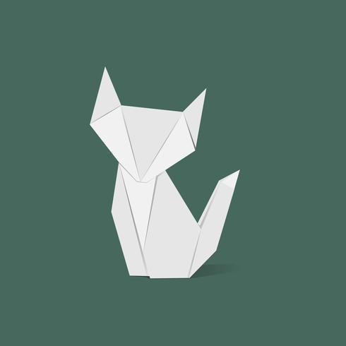 Animal origami vektor