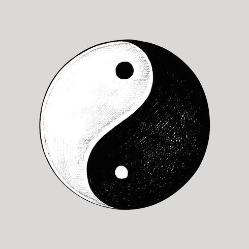 Hand drawn Yin and Yang symbol
