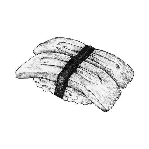 Sushi dessiné à la main