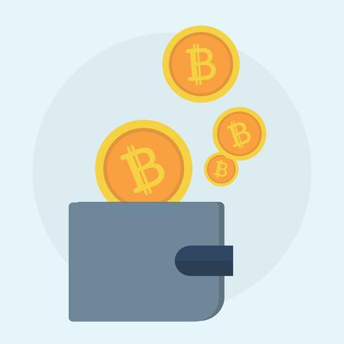 Illustration av bitcoin koncept