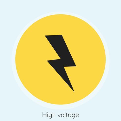 Illustration of high voltage warning sign
