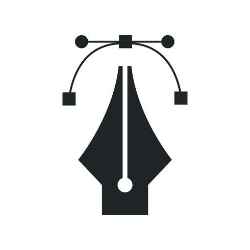 Penna stilografica d'annata su fondo bianco