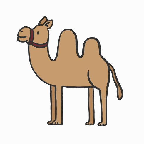 Handgjord kamelillustration