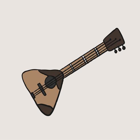Instrumento de música tradicional rusa Balalaika ilustración