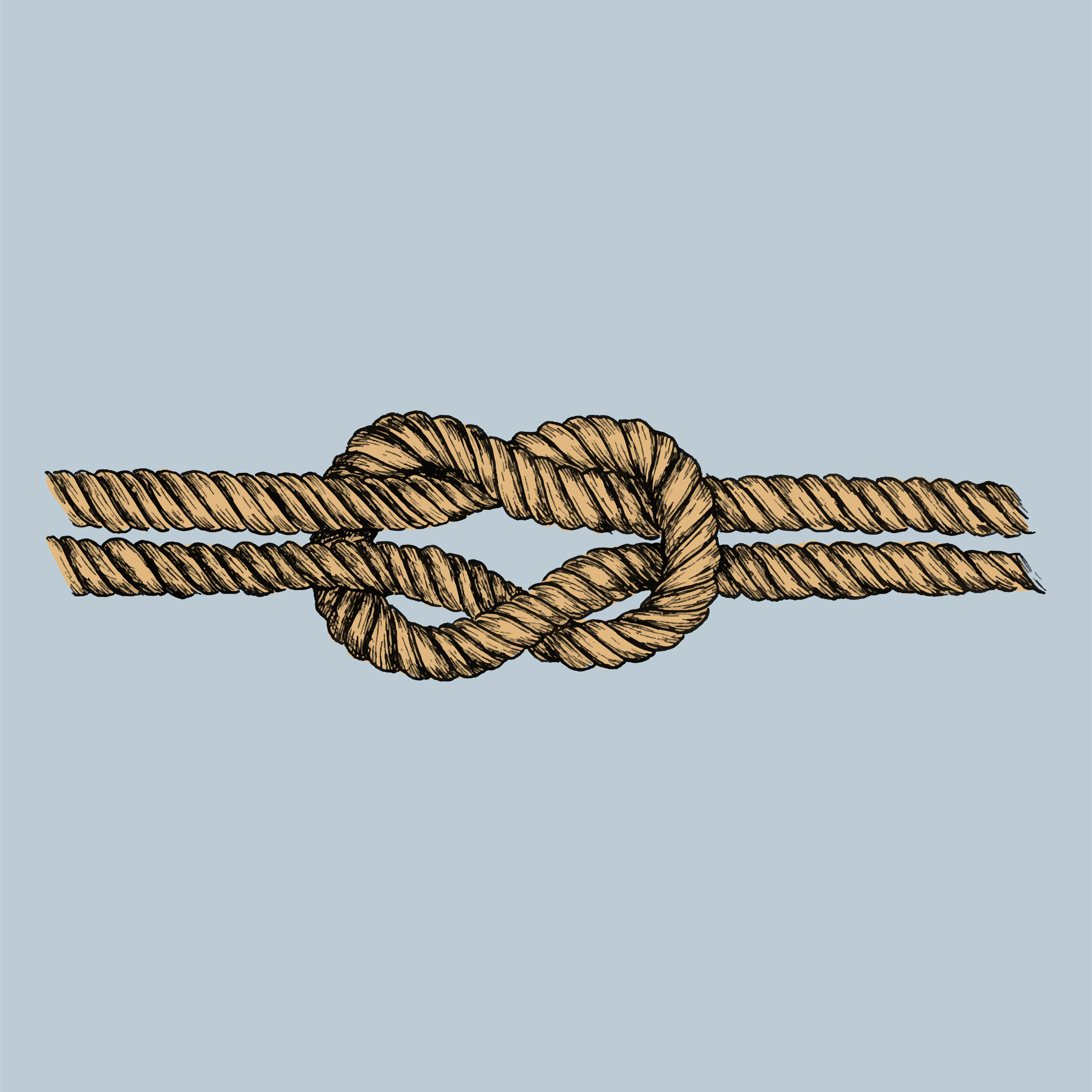 Hand drawn square knot - Download Free Vector Art, Stock Graphics & Images