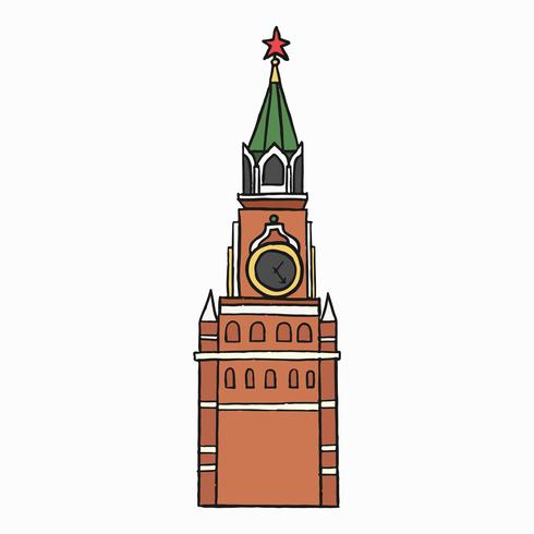 Traditionell ryska Spasskaya Tower illustration