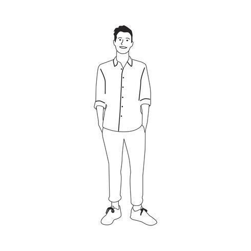 Illustré homme mûr avec des vêtements décontractés