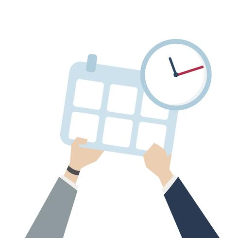 Illustration of time management icon